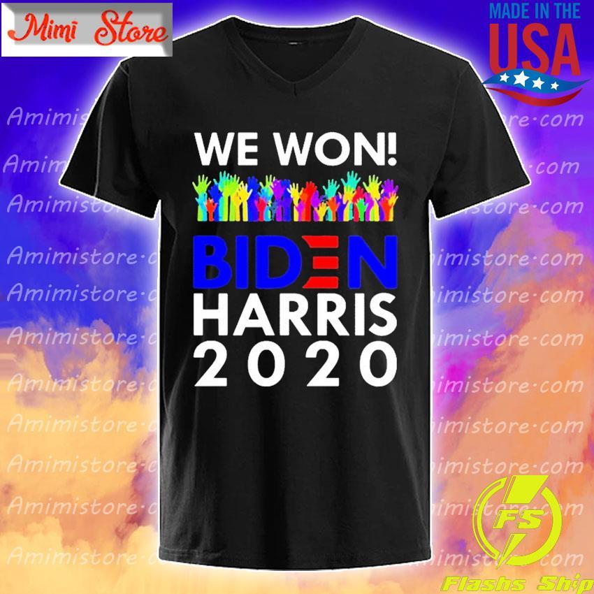 LGBT We Won Biden Harris 2020 For President shirt