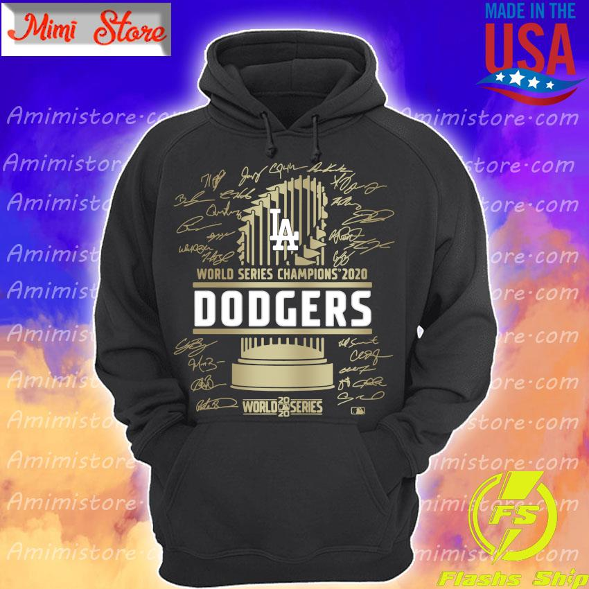 Los Angeles Dodgers World series Champions 2020 Signature Shirt Hoodie