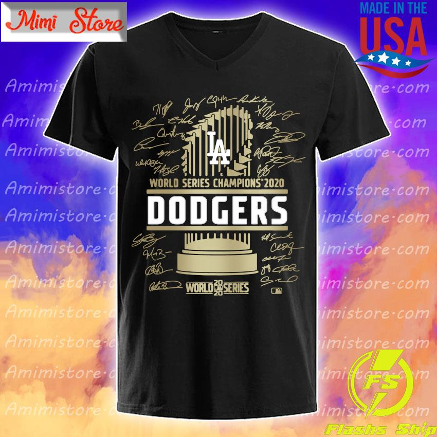 Los Angeles Dodgers World series Champions 2020 Signature Shirt