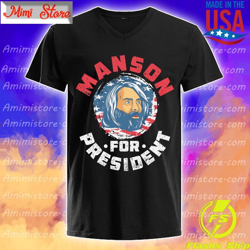 Manson for president American flag shirt