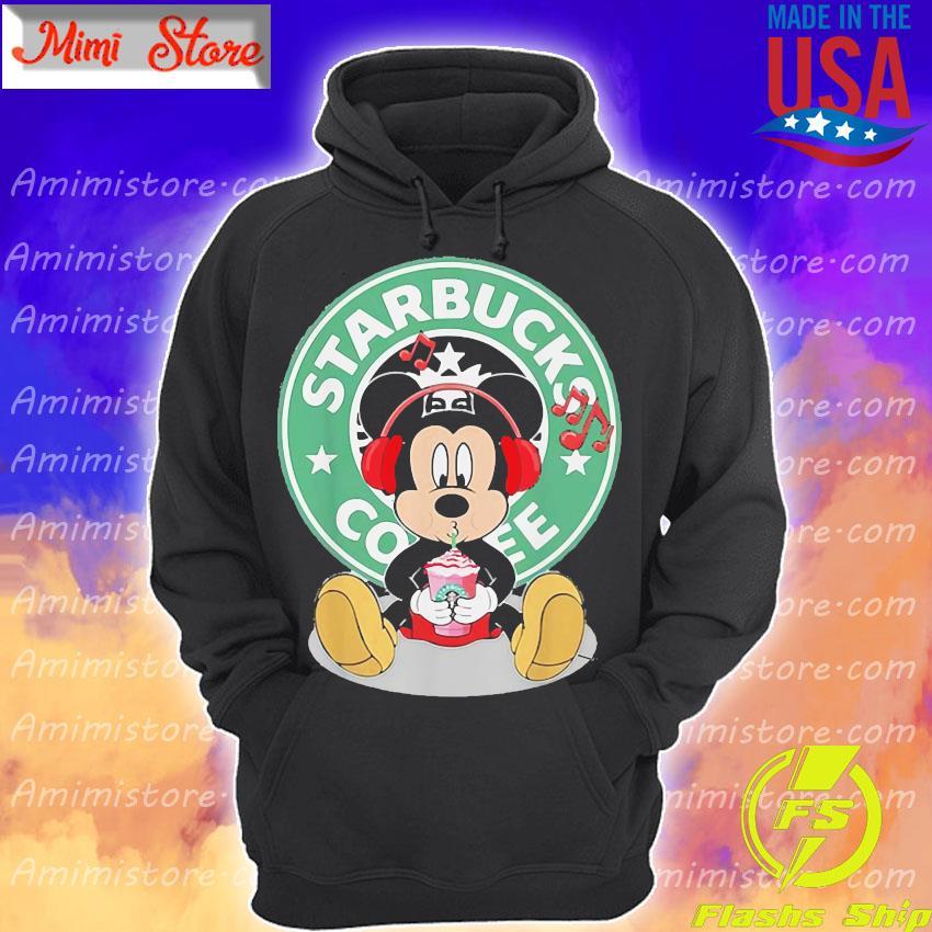 Mickey Mouse Listen To Music Starbucks Coffee Shirt Hoodie