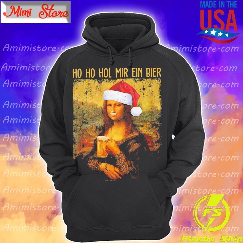 Mona Lisa Ho ho ho mir ein bier christmas s Hoodie