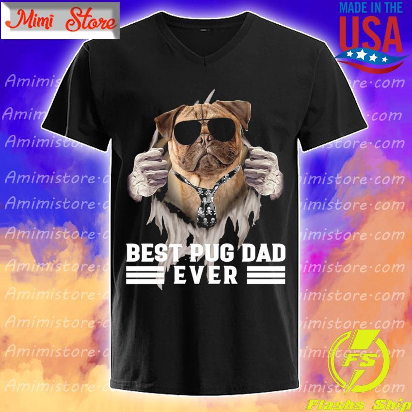 Official Blood inside me best Pug Dad ever shirt