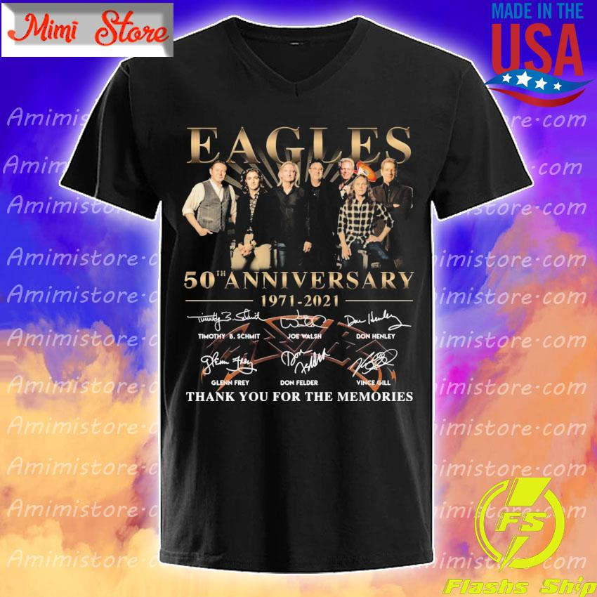 Official Eagles 50th anniversary 1971 2021 thank you for the memories signatures shirt