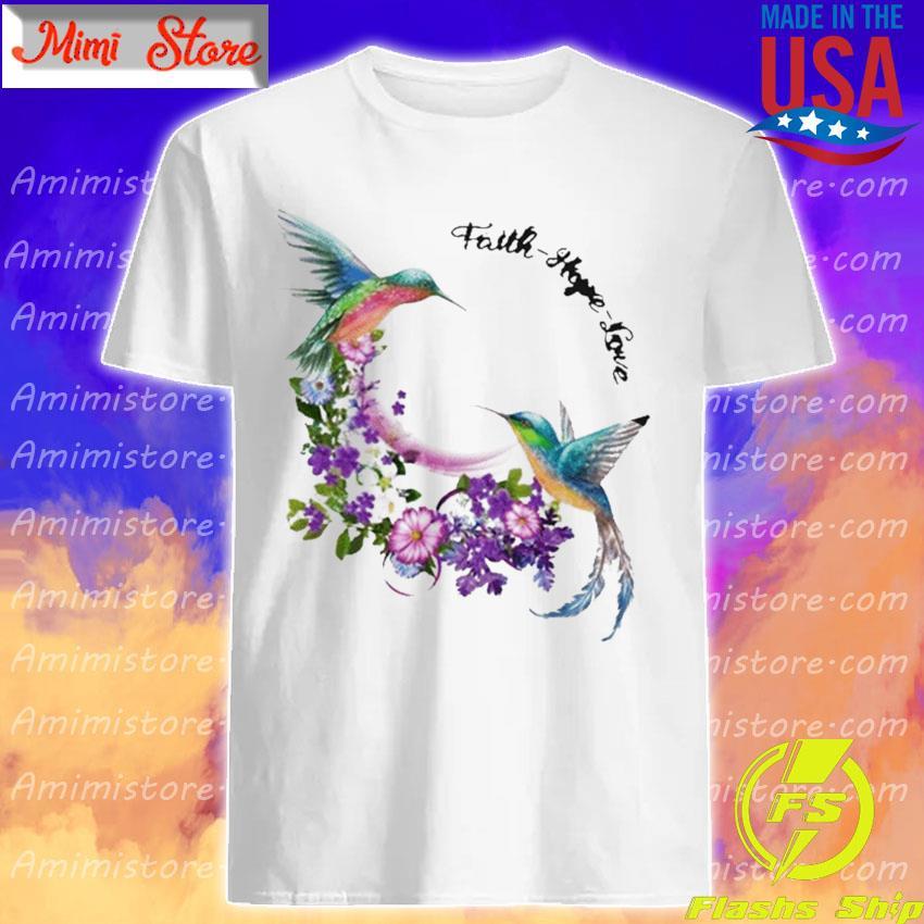Official Hummingbirds Faith Hope Love shirt