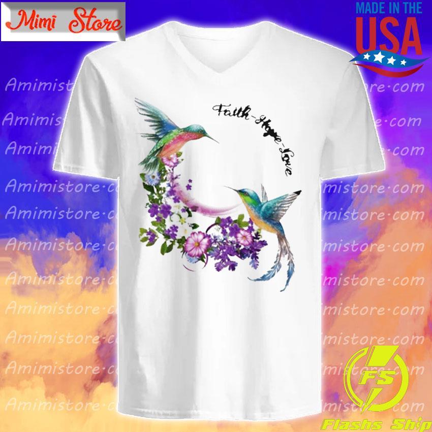 Official Hummingbirds Faith Hope Love s V-Neck