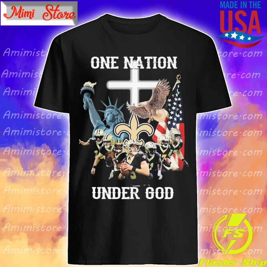 Official New Orleans Saints one nation under god American flag s Shirt