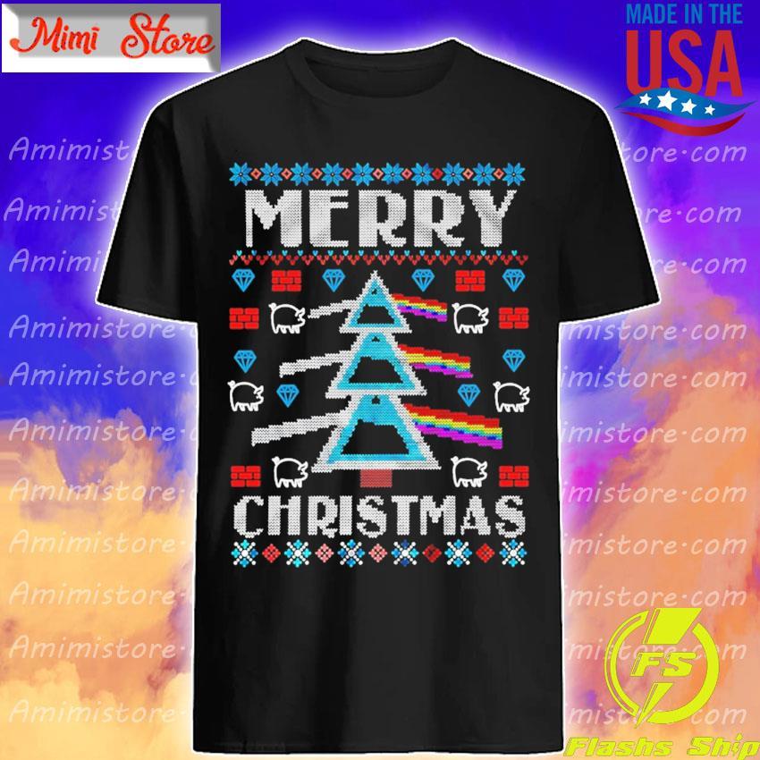 Pink Floyd Dark Side Of The Moon On Merry Christmas shirt