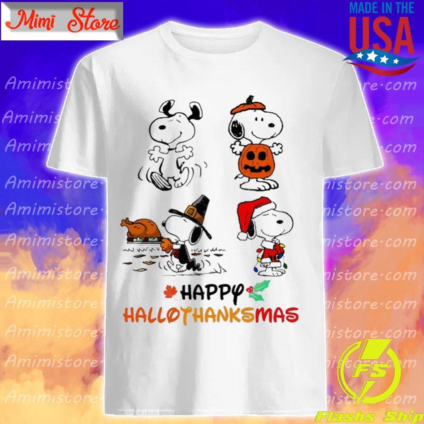 Snoopy happy Hallothanksmas Merry Christmas shirt