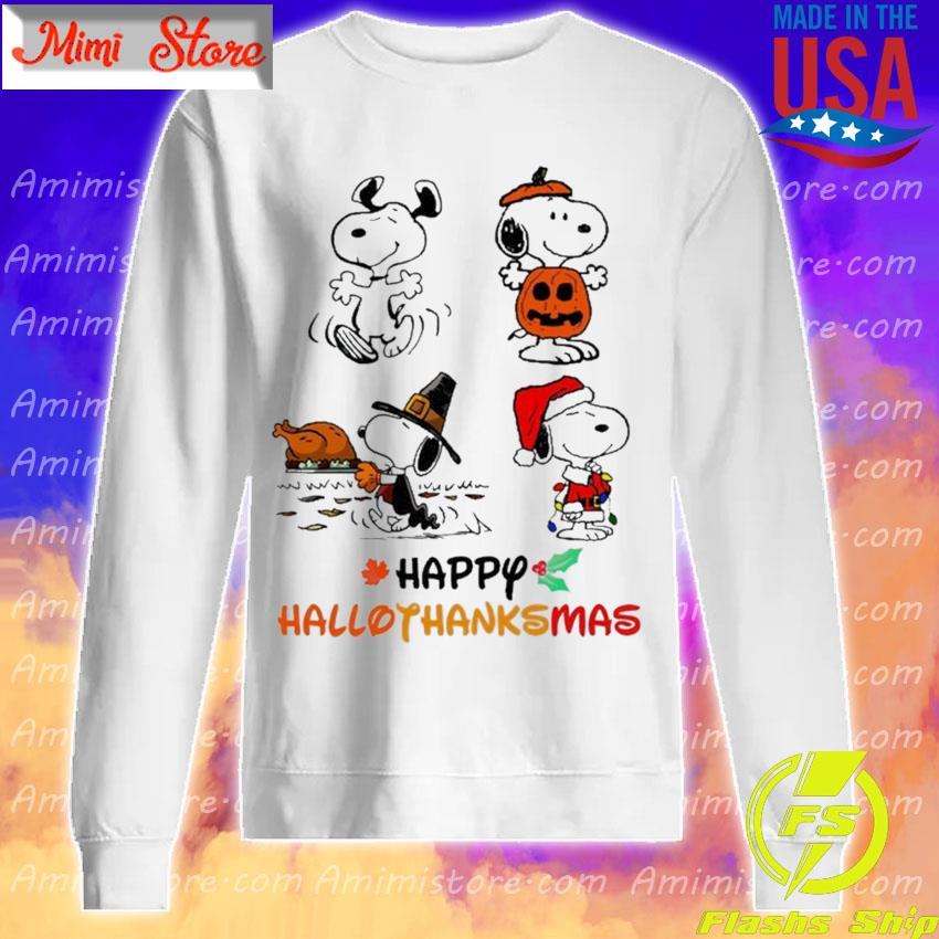 Snoopy happy Hallothanksmas Merry Christmas s Sweatshirt