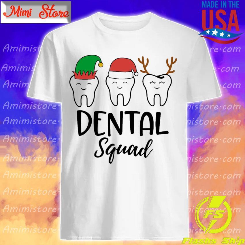 Teeth Santa Reindeer Dental squad Christmas shirt