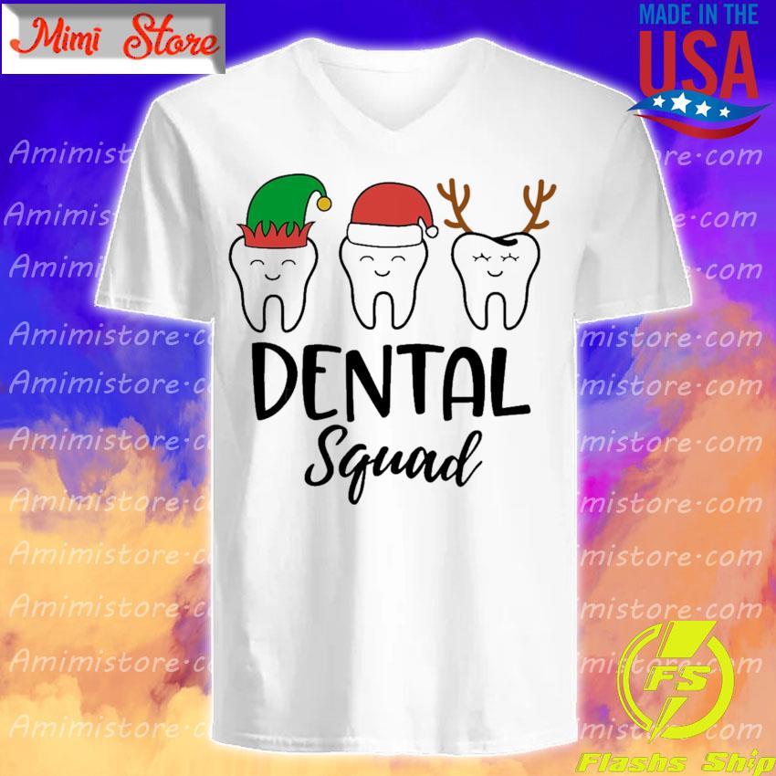 Teeth Santa Reindeer Dental squad Christmas s V-Neck